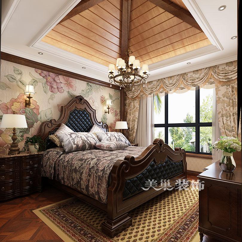 安阳自建别墅430平美式乡村风格装修需要多少钱|室内