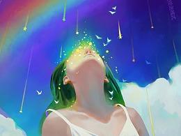 云间少女-彩虹流星雨