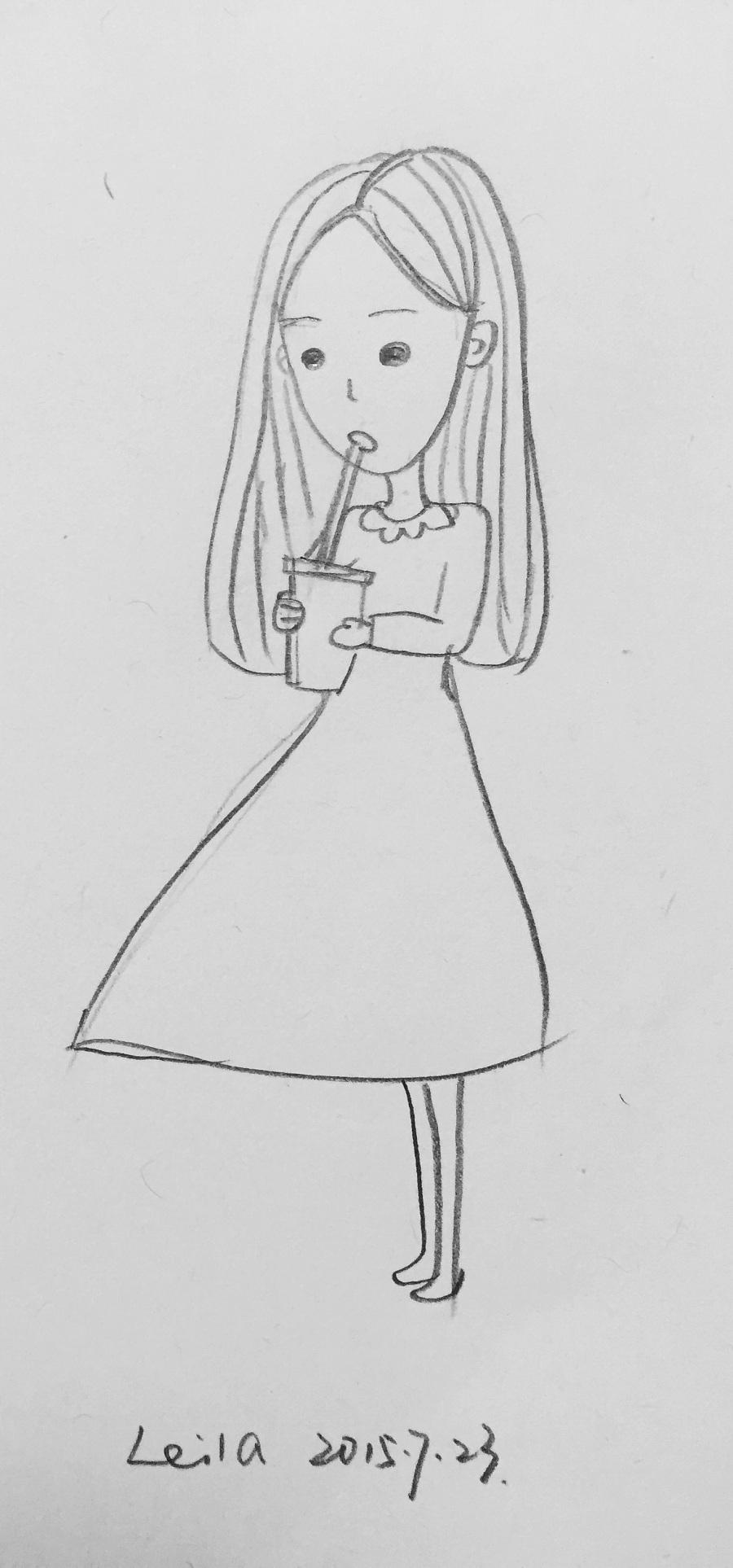 可爱的小人儿—简笔画