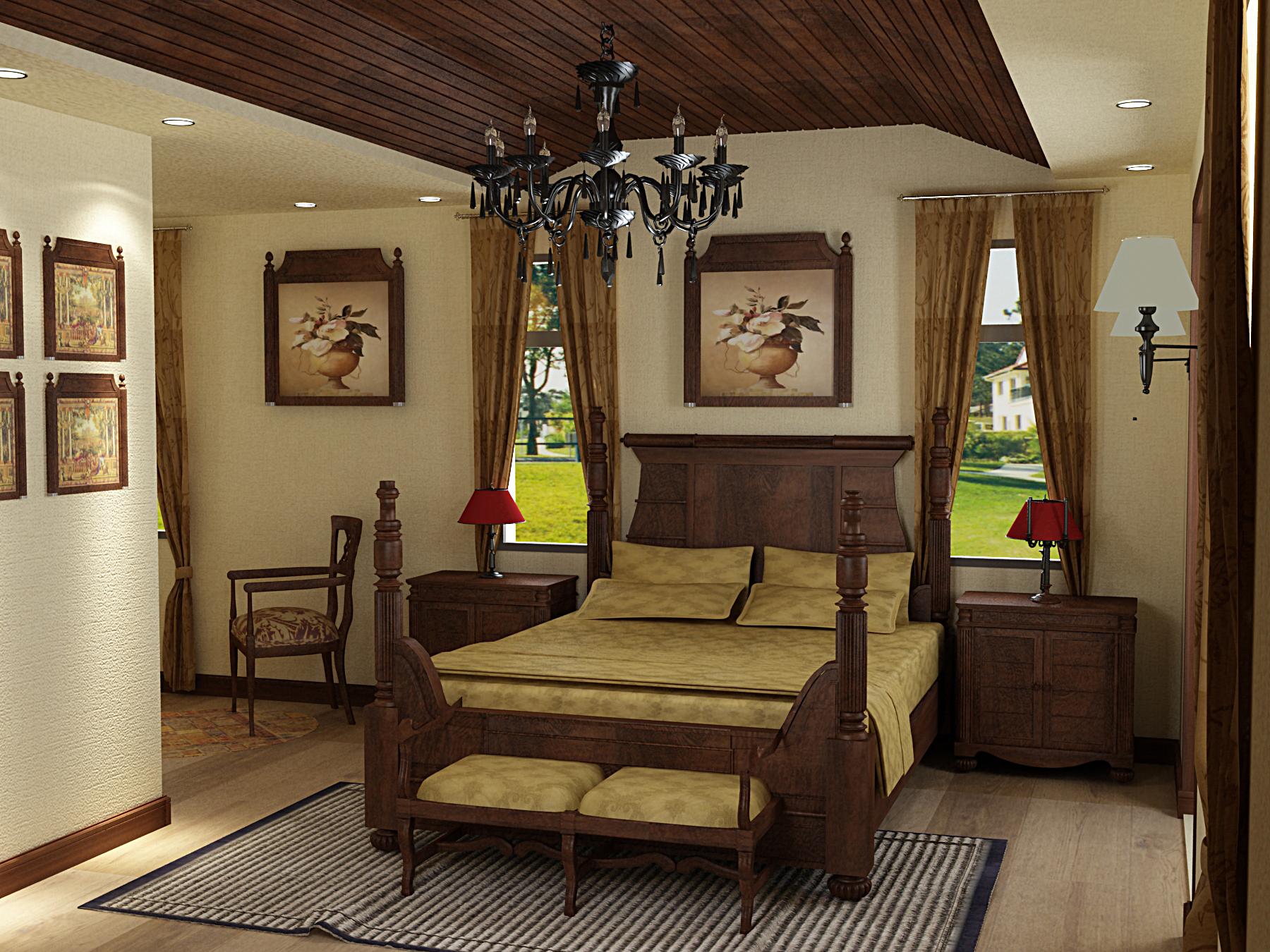木结构别墅室内