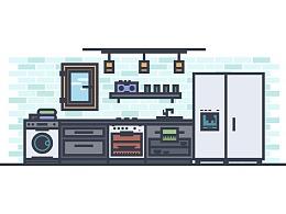 Illustrator中创建一个厨房