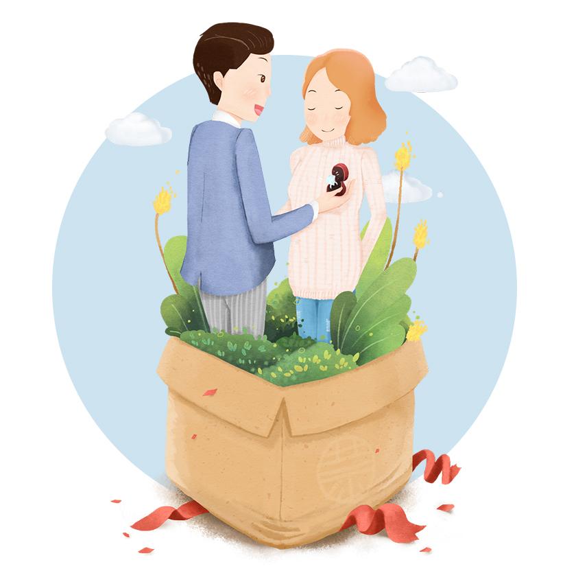 手绘求婚图画大全