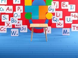 儿童游戏益智桌设计