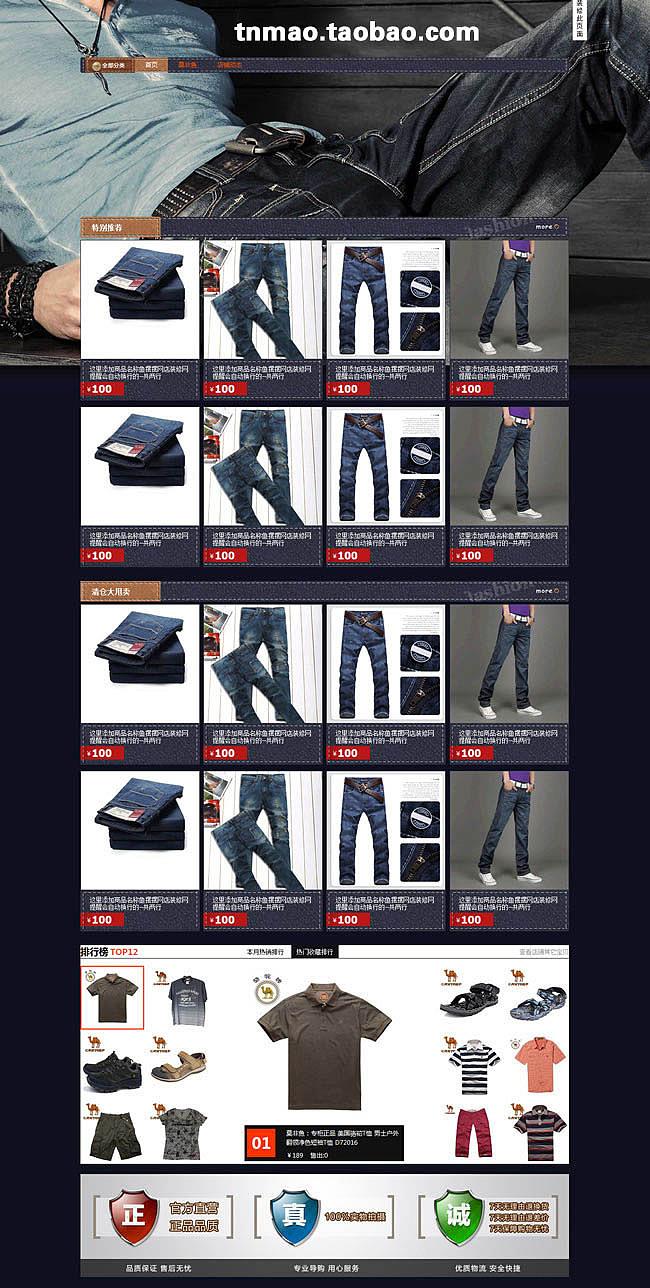 2013淘宝最新旺铺专业版装修模板 淘宝店铺模板图片