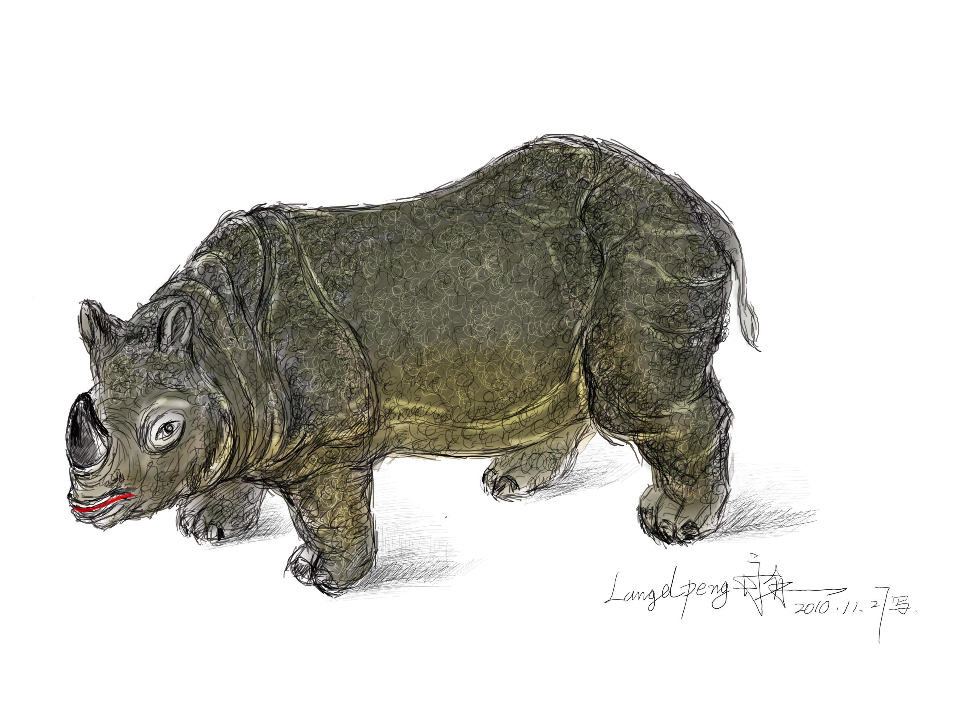 英国手绘犀牛大赛