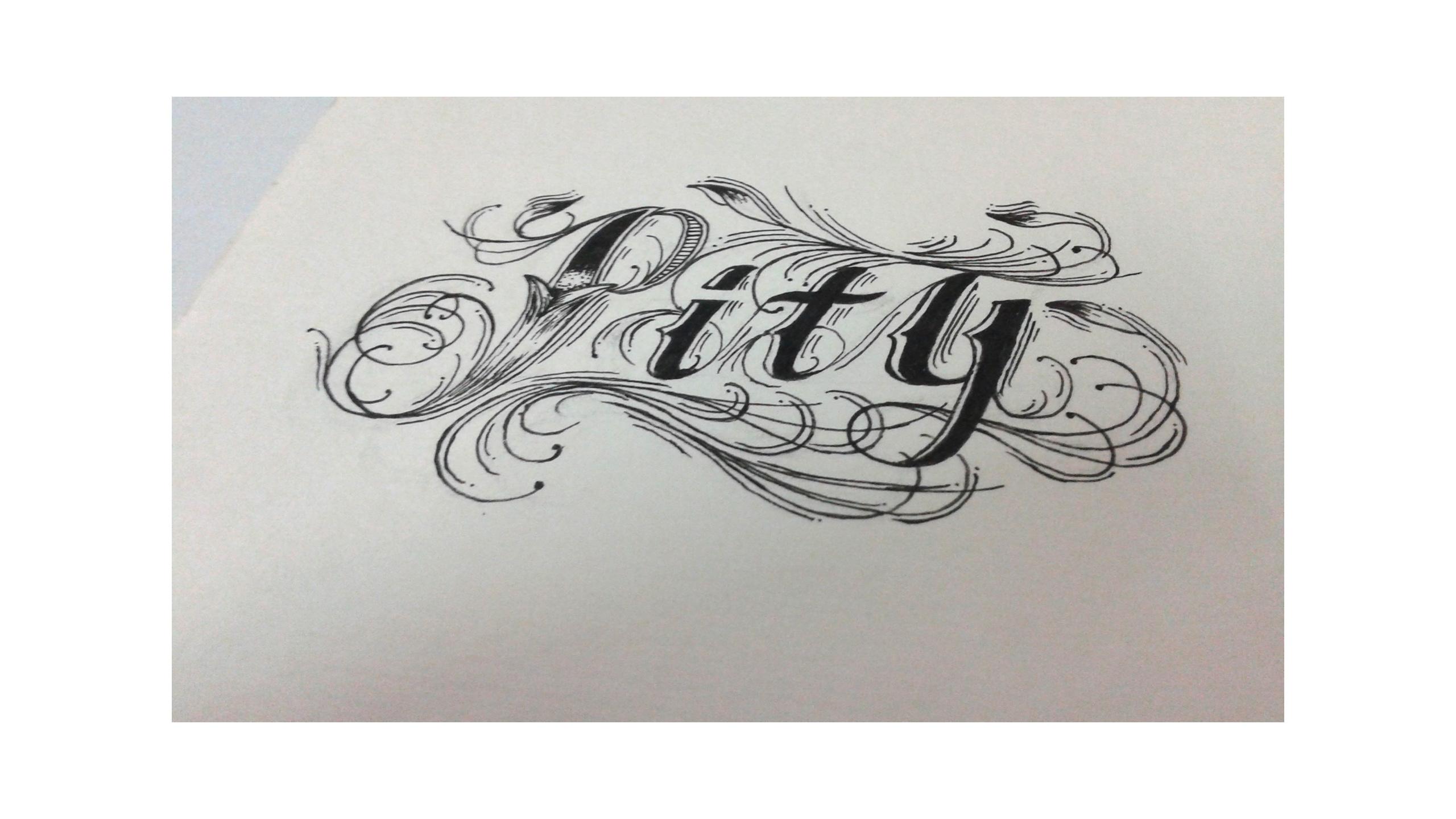 英语手绘字体设计2