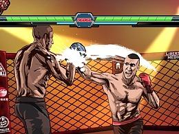 集酷炫于一身的拳击比赛热场片头动画