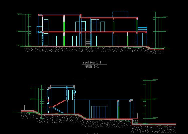 《全套cad新农村自建房设计图纸以及cad施工图图纸》原图,原图尺寸:75