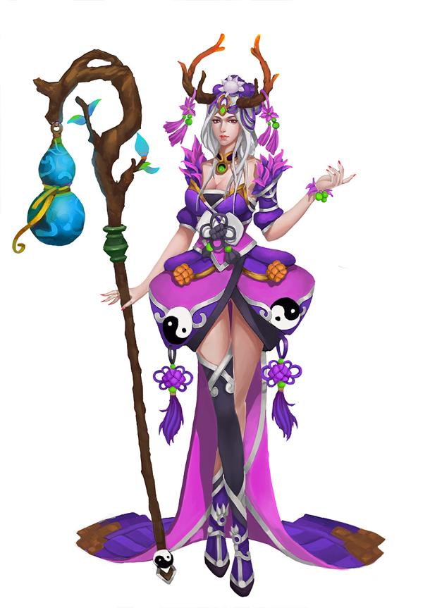天妖令角色之一, 鹿妖女神,称:鹿蓉.职业相当于奶妈,拥有治疗的功能