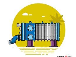 兰石集团产品插画形象设计