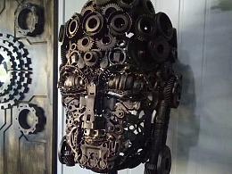 佛头 铁艺雕塑重金属朋克风