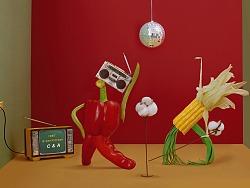 C&A品牌合作-食物的复古disco