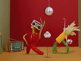C&A品牌合作-食物的復古disco
