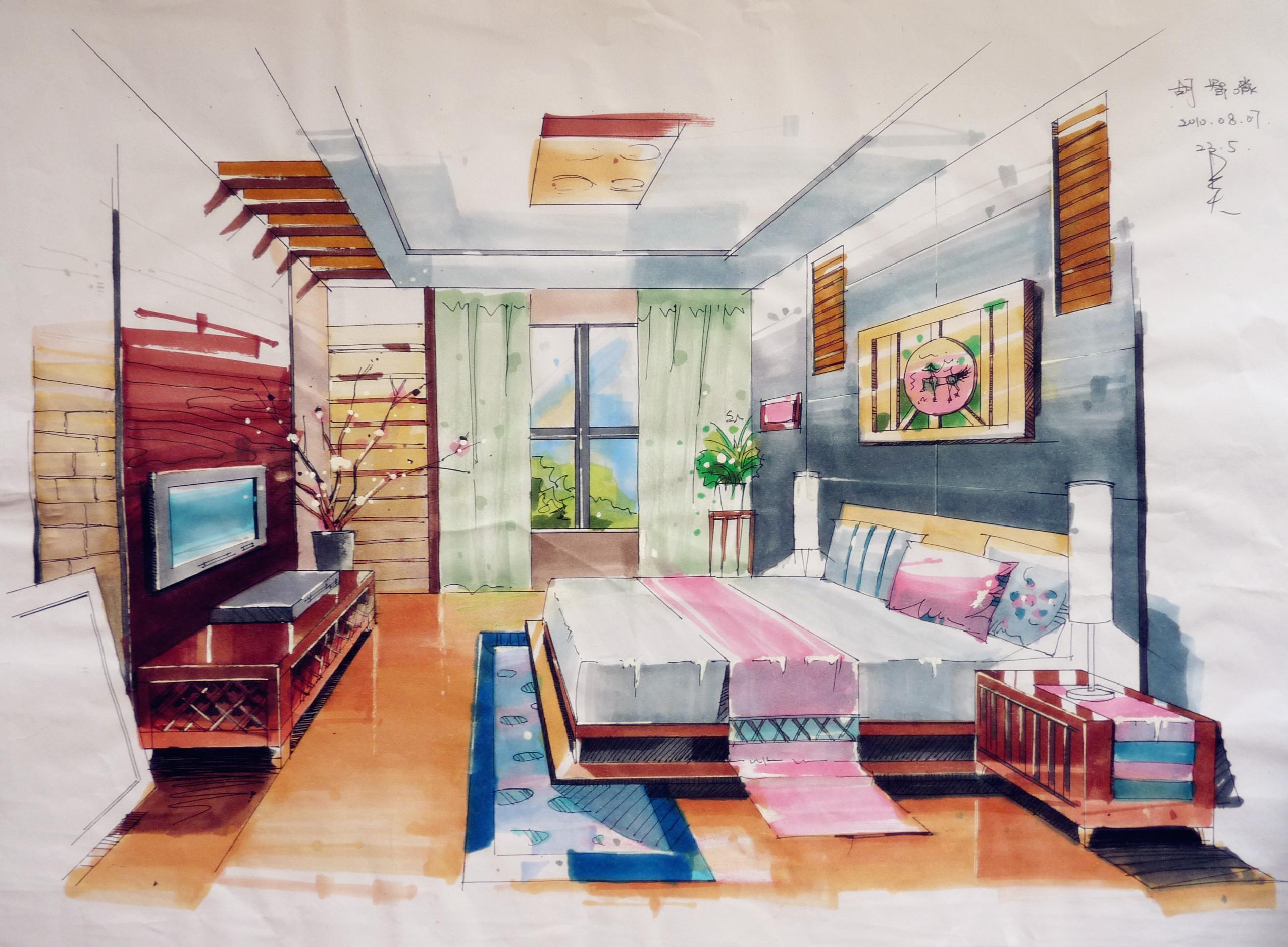 建筑室内—手绘草图