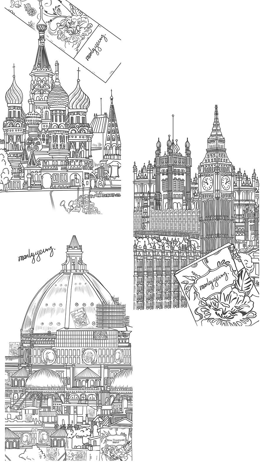 【原创】风景手绘插画—《带你环游世界》合集