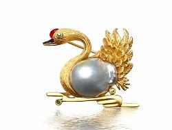 《天鹅》——巴洛克异形珍珠,异形海水珍珠创作过程