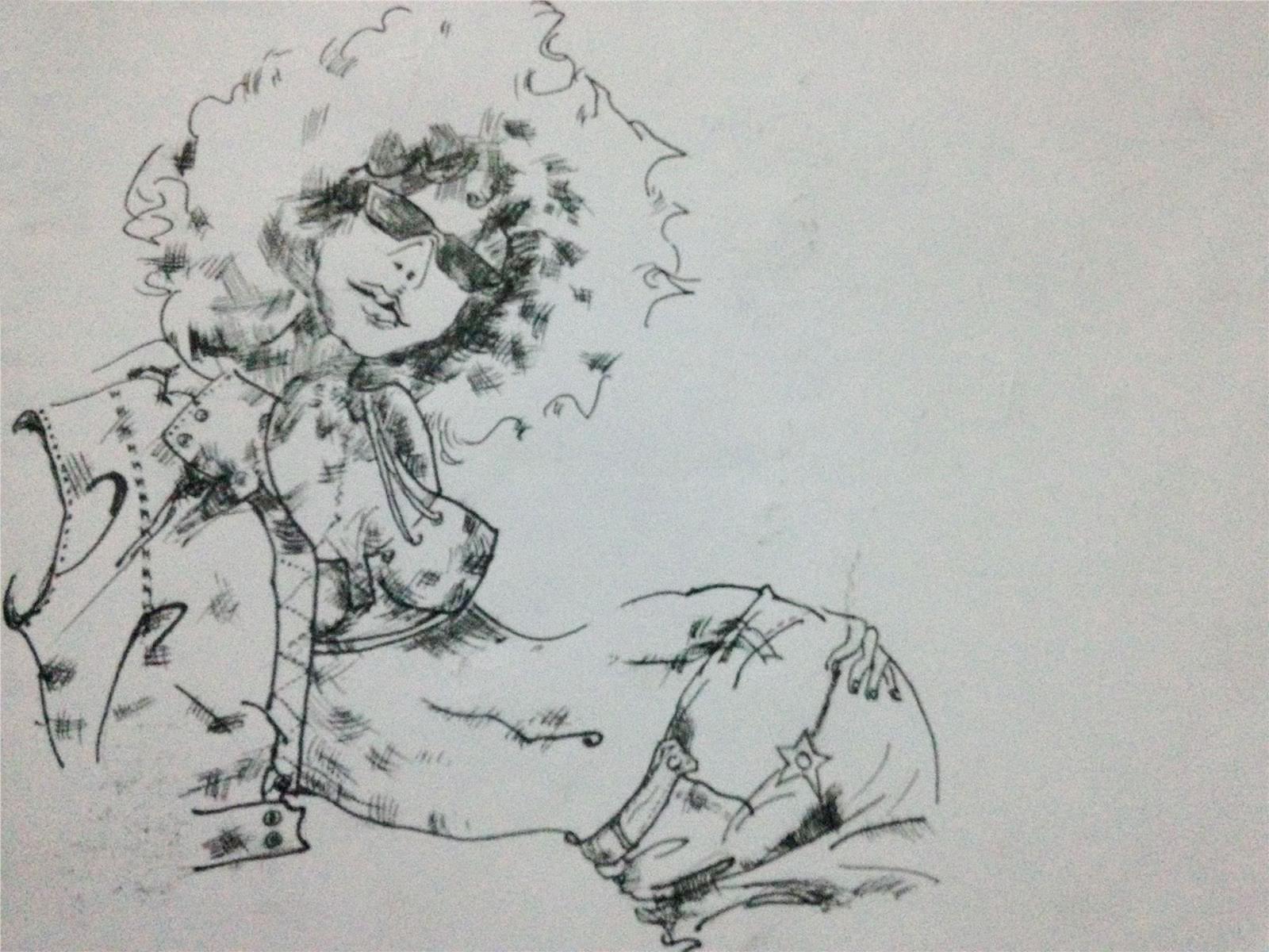 手绘时装画