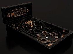 桌面弹球C4D黑金质感动画
