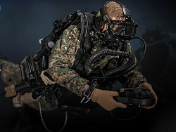 USMC陆战队-武力侦察战斗潜水员-林地迷彩版