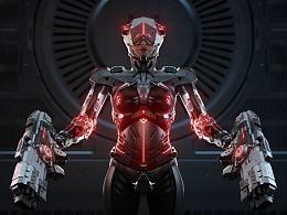 Cyberpunk 风格机甲设定 原创角色
