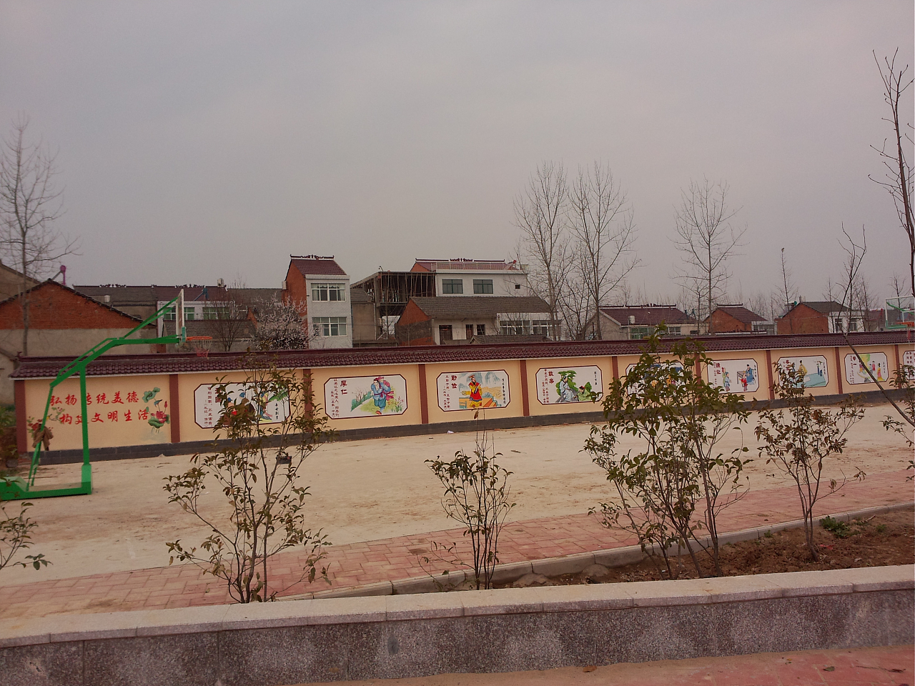 六安新农村文化广场彩绘 美好乡村彩绘