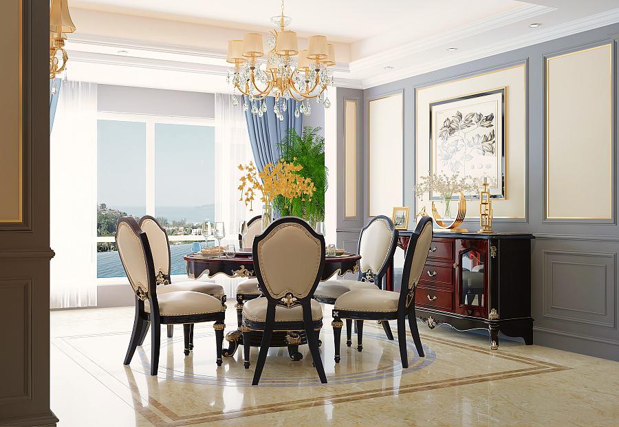 家具设计与呈现美式轻奢 新中式淘宝,京东,天猫图片