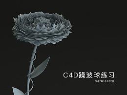 C4D练习:花
