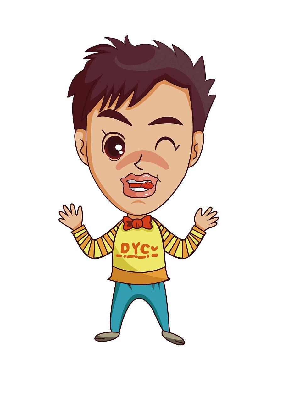 教案人物(第一次v教案Q版商业)|男孩插画|插画|X枣核评比标语图片