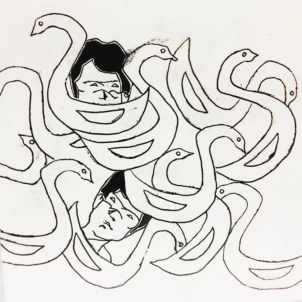 【手绘系列】—人与动物