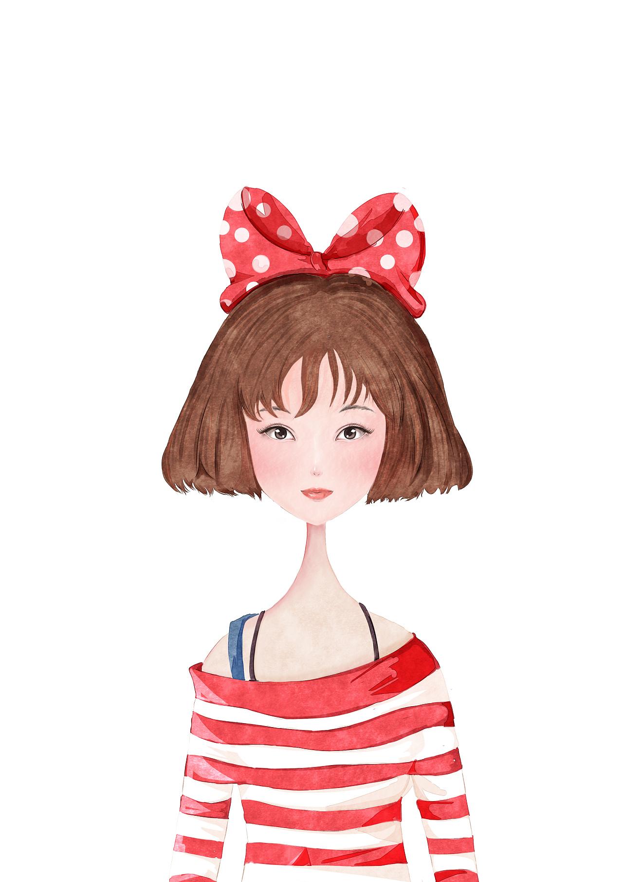 人物水彩插画|插画|商业插画|漫鱼动漫l神奇治 - 原创