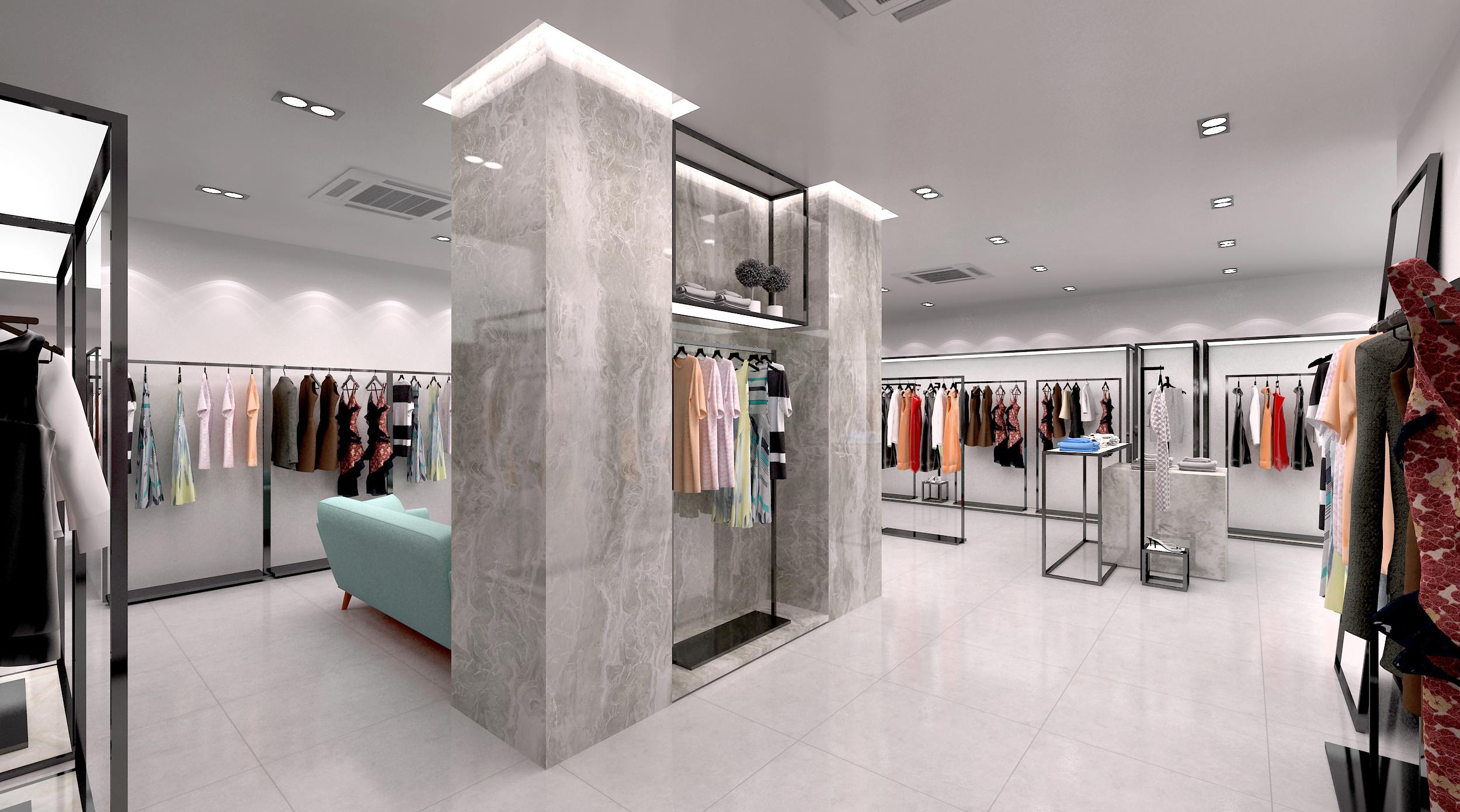 服装店设计|空间|展示设计 |直立的蜗牛 - 原创作品