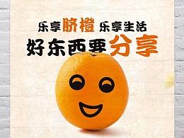金肚皮赣南脐橙海报设计