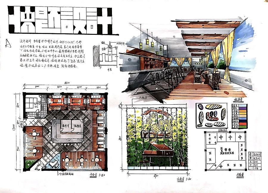 咖啡厅快题设计_快题设计作品集图片