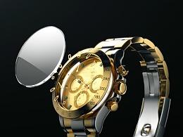 高反射手表产品动画渲染练习