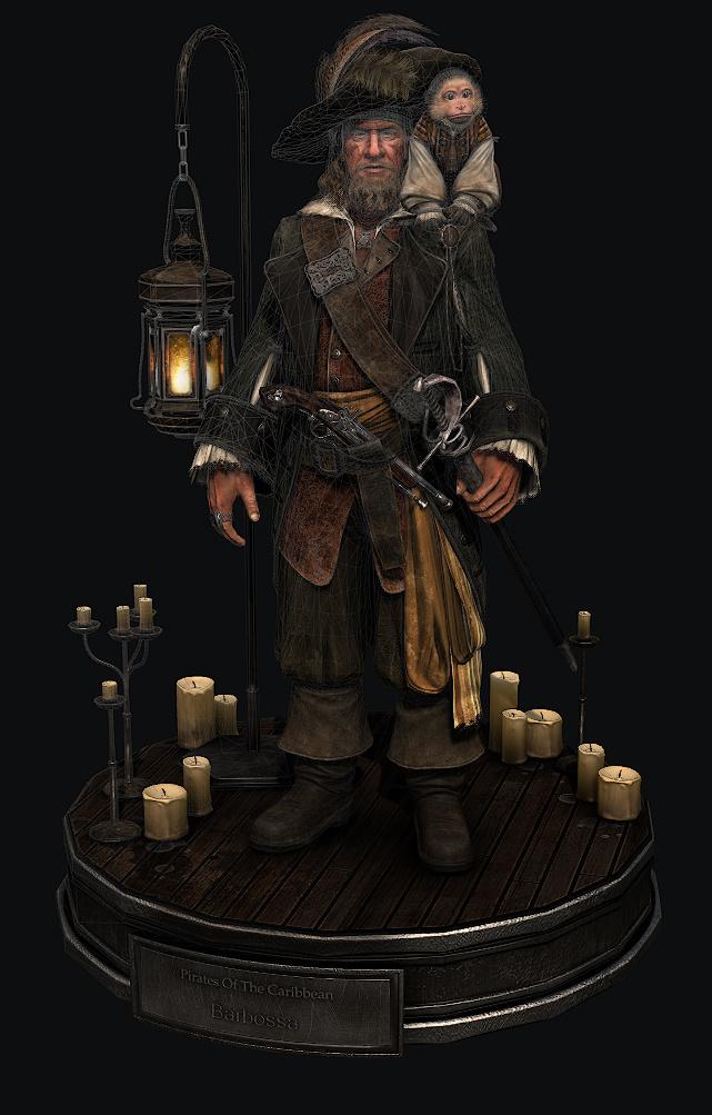 深圳三维_加勒比海盗-3D巴博萨船长|三维|人物/生物|seedgameschool - 原创作品 ...