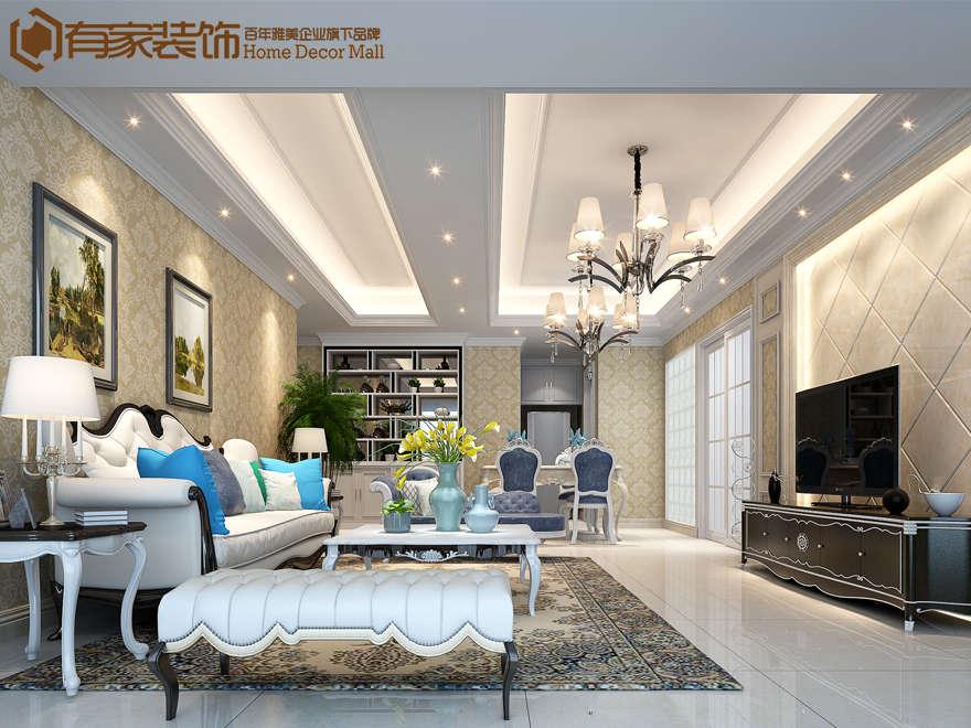 风格:欧式经典 户型:多居 面积:95平米 预算:20万元 设计:杨燕方 部门:二所 设计说明 DESIGN NOTE 本案客厅通过完美的曲线,精益求精的细节处理,带给家人不尽的舒服触感,实际上和谐是欧式风格的最高境界。客厅颜色的选择是关键,暖色为主色调,这是毋庸置疑的,其次就是在家具的选择和摆设上面,窗户的改建上面,光线一定要足,色彩一定要浅色,或是温馨的色彩。