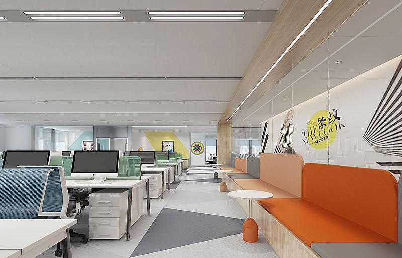 信息科技公司办公室装修 电商公司办公室设计装修图片