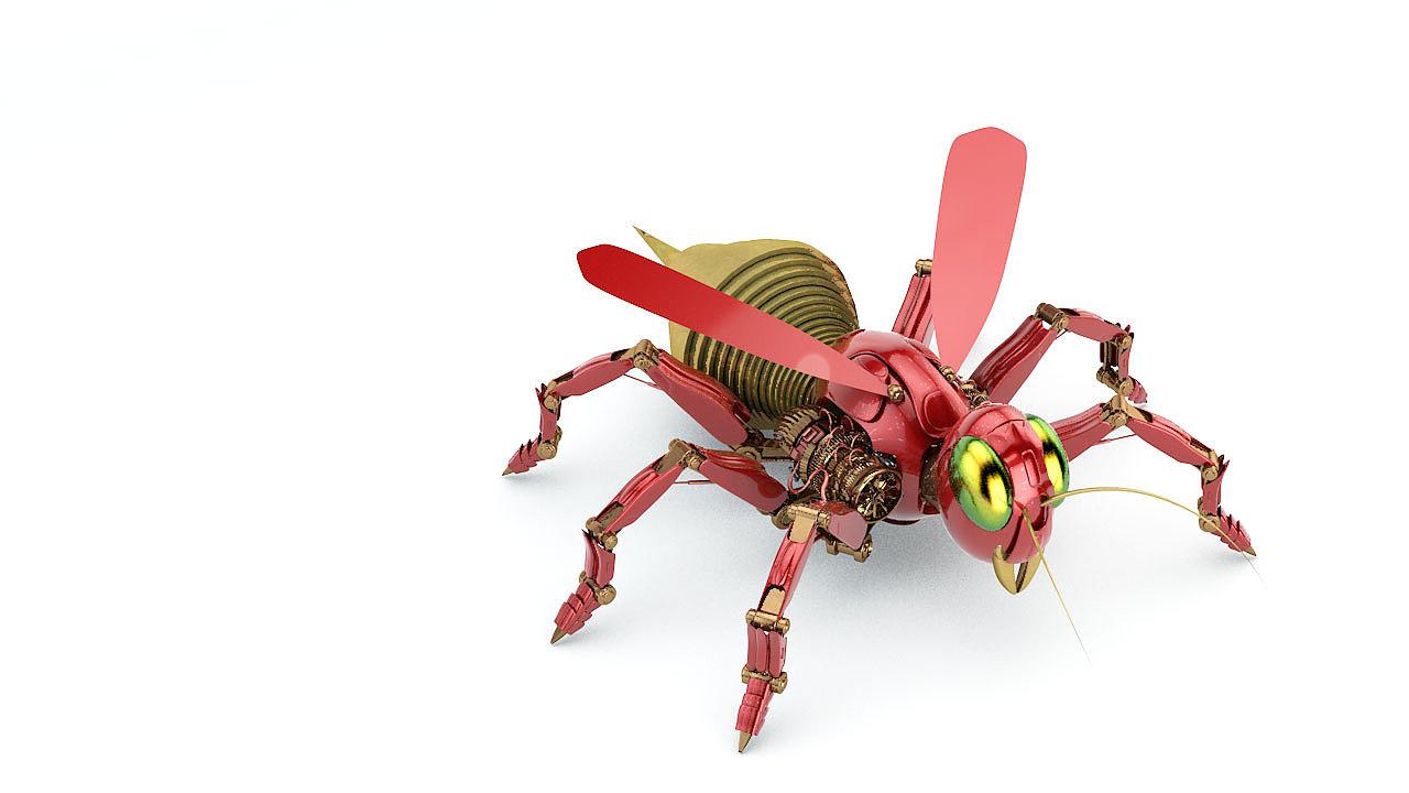 c4d机械昆虫
