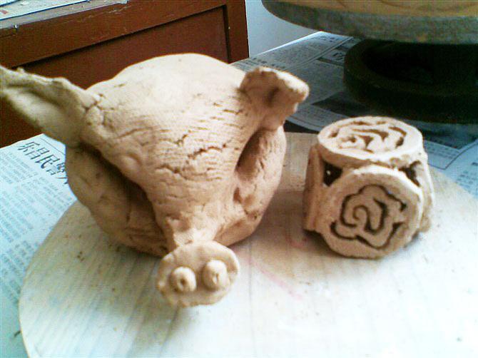 泥塑花瓶作品_陶艺-艺术|插画|商业插画|小笛 - 原创作品 - 站酷 (ZCOOL)