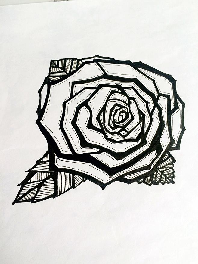 针管笔手绘,画画是一种享受|绘画习作|插画|尛