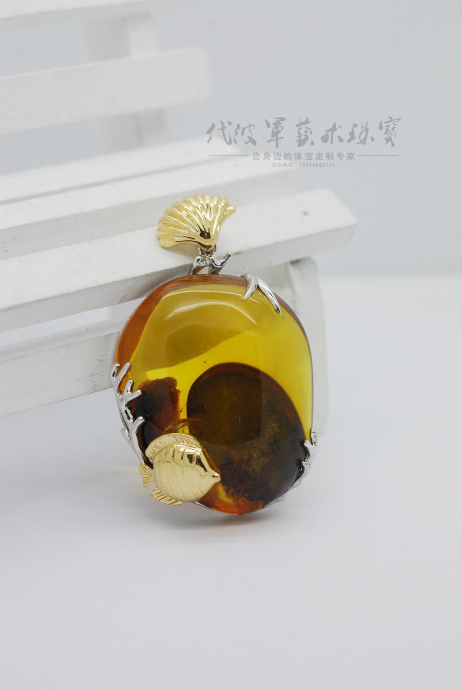 查看《代波军艺术珠宝定制-----琥珀中的海洋世界作品欣赏》原图,原图尺寸:900x1344