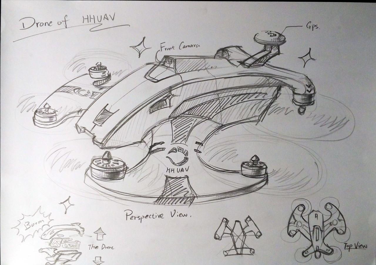 无人机手绘概念稿