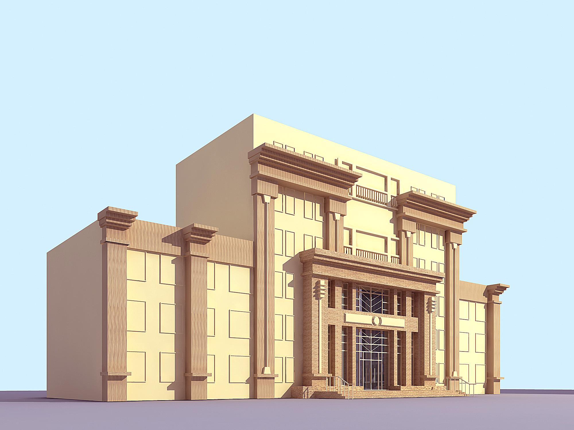 建筑效果图 彩铅