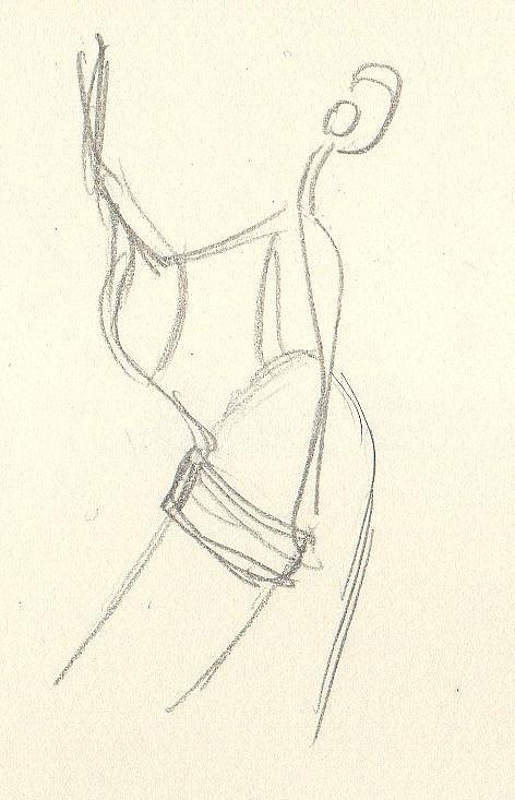 蓝牙耳机手绘图