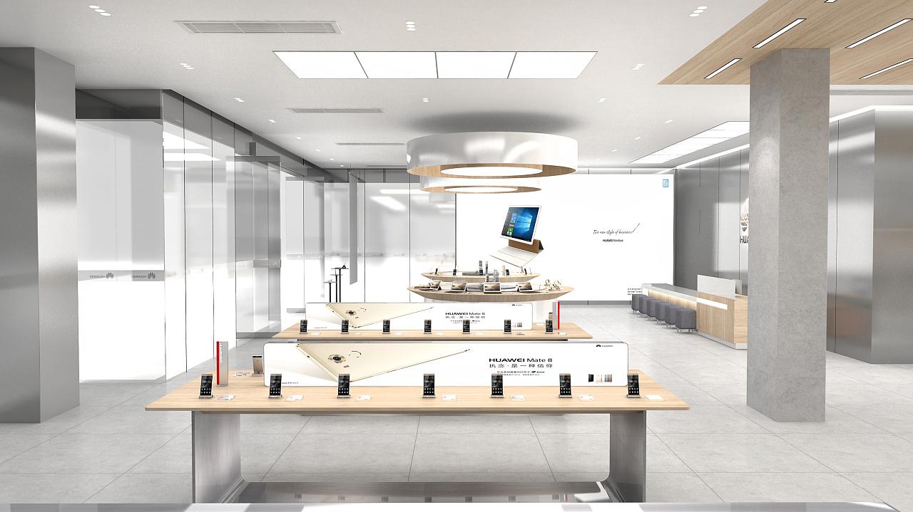 旗舰店设计_马来西亚华为最大全球首家旗舰店设计|空间|展示设计 |直立的 ...