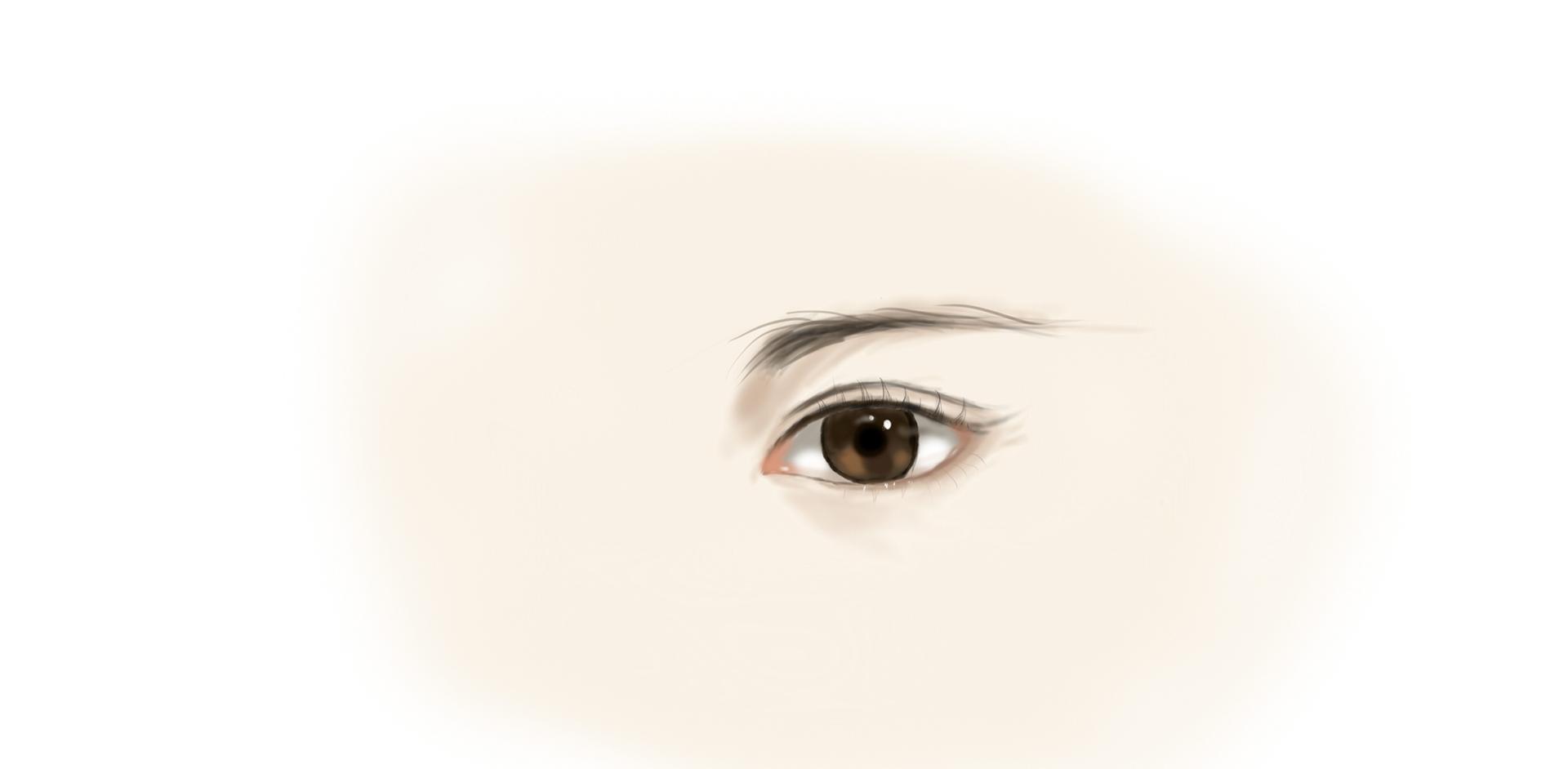 3月20日手绘练习,临摹作品.蝙蝠宝宝,眼睛