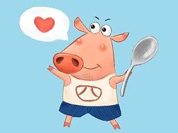 1909月《猪小四吉祥物》初次见面,请多指教