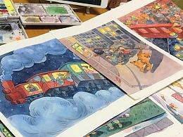 儿童插画及部分过程