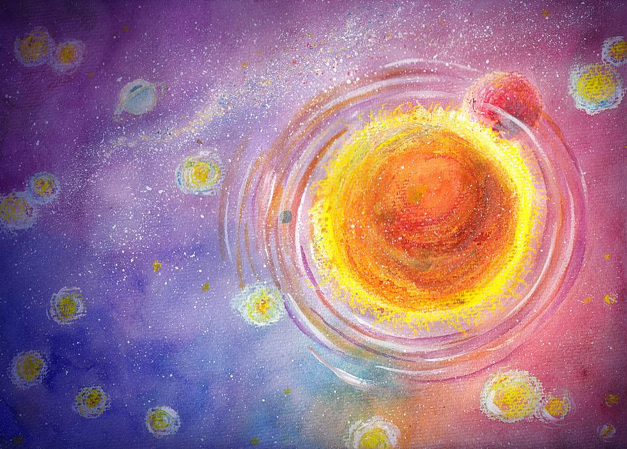 星空|绘画习作|插画|清心无尘 - 原创设计作品 - 站酷图片