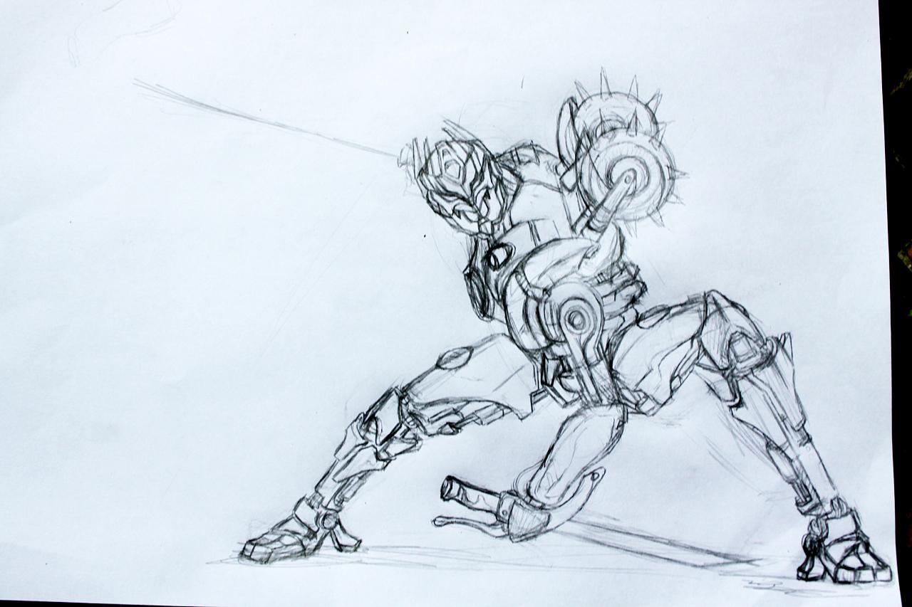 变形金钢简笔画-鼠绘变形金刚 忍者